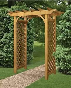 American Style Garden Arbor Wood - Arbors & Trellises
