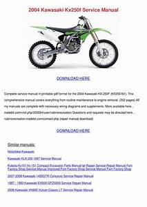 2004 Kawasaki Kx250f Service Manual By Antoinettewillie