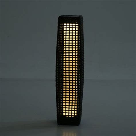 buy outsunny rattan l solar powered led outdoor wicker