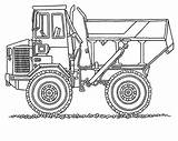 Digger Coloring Truck Dump Monster Moving Parts Template Craft Print sketch template