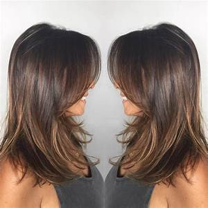Dark-Ash-Brown Mid-Length Hair with Wispy Layers | Medium ...