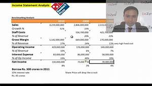Financial Modelling - Income Statement - Analyzing Dominos ...