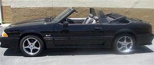 Black 1990 Ford Mustang Gt Convertible