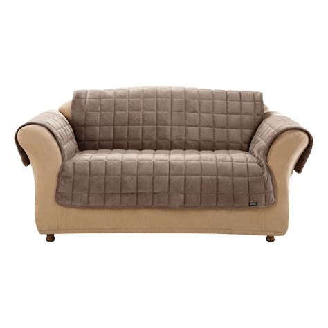 Brown Loveseat Cover by Deluxe Quilted Brown Duck Canvas Loveseat Slipcover At