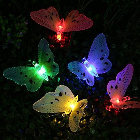 Butterfly String Lights by Yaoxi Outdoor String Lights Waterproof 12led Fiber Optic
