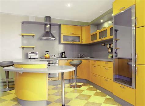 cuisine jaune et gris déco cuisine jaune et gris