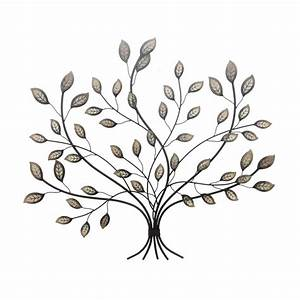 Wall art hanging rustic bronze enamel leaves leaf antiqued