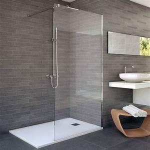 Paroi Douche Verre Sablé : paroi de douche fixe verre 8 mm 80 et 100cm rimini ~ Premium-room.com Idées de Décoration