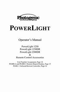 Powerlight 1250 Manuals