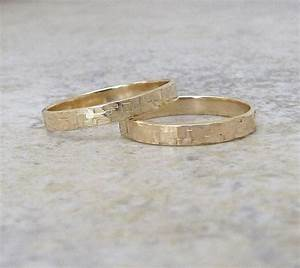 gold wedding bands hammered gold wedding rings gold hammered With hammered gold wedding ring