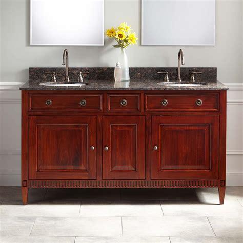 hawkins mahogany double vanity  undermount sink