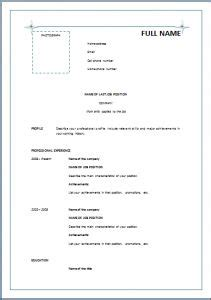 standard format of resume pdf 1000 images about resume career termplate free on