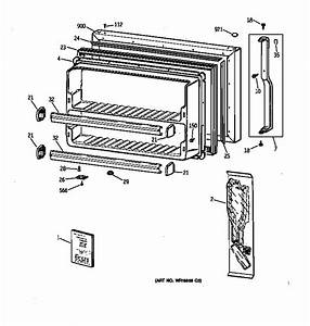 Freezer Door Diagram  U0026 Parts List For Model Tbx21cibrrww