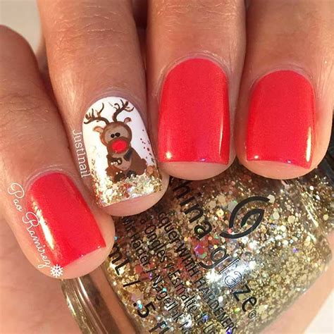 easy winter  christmas nail ideas page