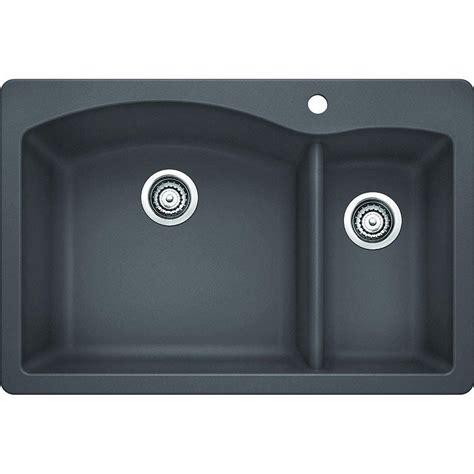 granite composite kitchen sinks reviews blanco dual mount granite composite 33 in 1 6886