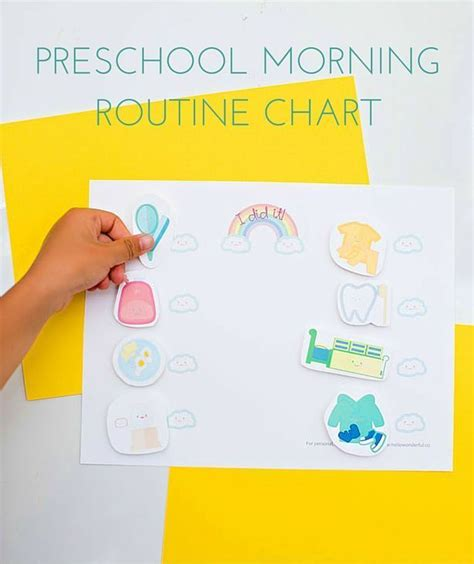 preschool morning routine chart free printable get your 832 | 776a6f837d1b6a007629156d4ac1226b