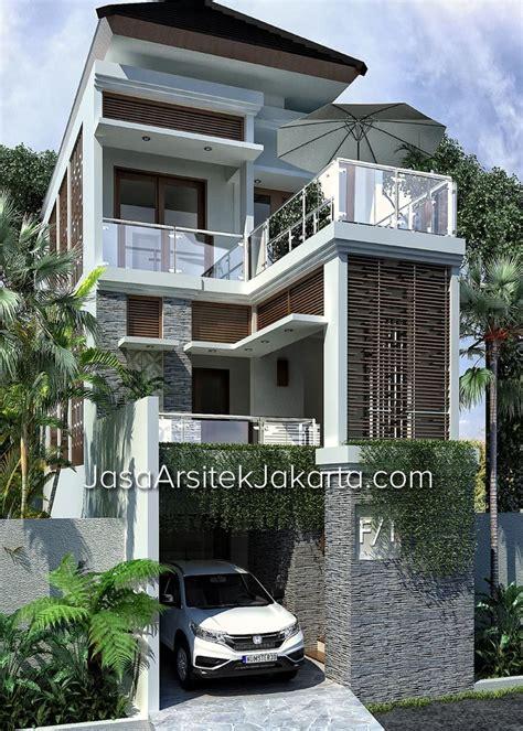 desain rumah  lantai lebar   gaya balinese tropical
