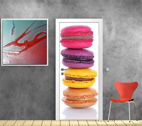 sticker porte cuisine davaus decoration cuisine theme macaron avec des
