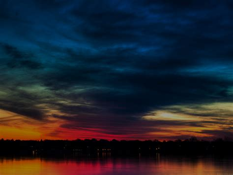 mj rainbow   sky dark lake sea nature wallpaper