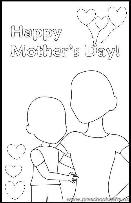 printable mothers day worksheets  kids preschool  kindergarten mothers day