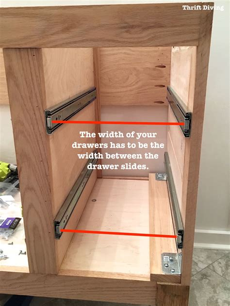 how to build a drawer build a diy bathroom vanity part 4 the drawers