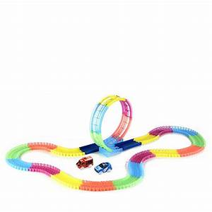 Twister Tracks 11ft Neon Glow Flexible Track with Loop & 2