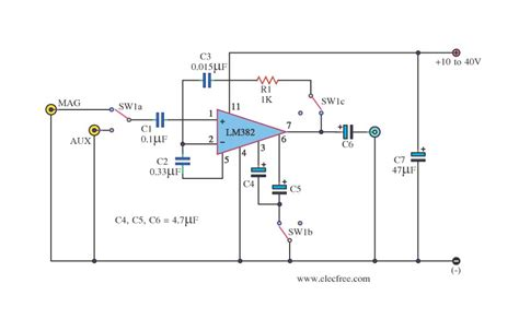 Simple Preamplifier Circuit Diagram World