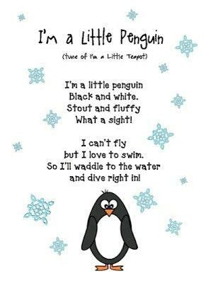 penguin poem amp movement kinder song englisch 241 | 3dbb0e019e58f71988fdb07cbd9711cc kindergarten curriculum poem
