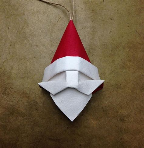 Falten Weihnachten by How To Fold An Origami Santa Claus Tree Ornament