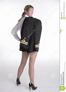 Woman Navy Officer In Her Uniform Stock Image - Image ...
