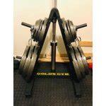 golds gym weight plate  barbell storage rack  compact design walmartcom walmartcom