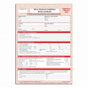 electrical minor works certificate template - corgidirect minor electrical works certificate cp22