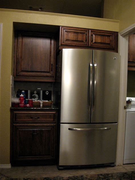 kitchen cabinets refrigerator coffee stain and glaze kitchen 3199