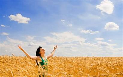 Happy Happiness Nature Woman Wallpapers Really Wide