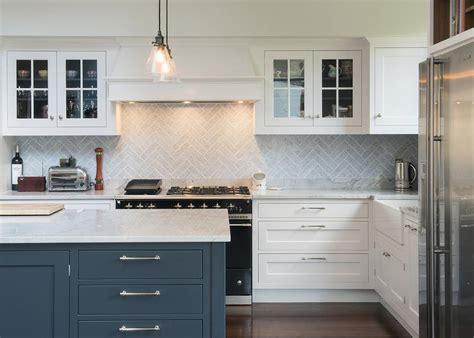 Gray Herringbone Kitchen Backsplash Tiles
