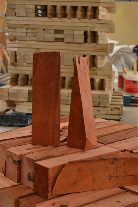 assorted wedges onsite timber services outlast timber