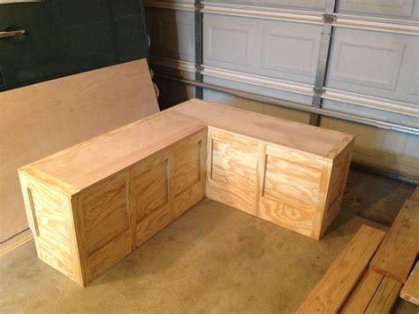 custom corner bench toy box   diy storage bench