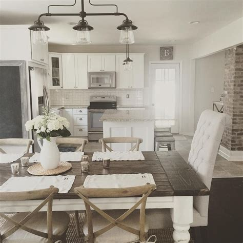 modern white kitchen table rustic modern farmhouse with farmhouse table with a wood