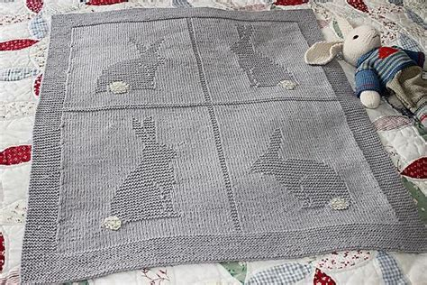 Four Bunnies Blanket Knitting Pattern By Suzanne Strachan Red Fleece Baby Blanket Purchase Order Template Ripple Attic24 Minky Crib Long Loom Knitting Cute Ideas Blankets With Horses Aden And Anais Sale Dream