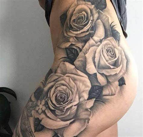 ideas  rose tattoo thigh  pinterest hip thigh tattoos flower thigh tattoos