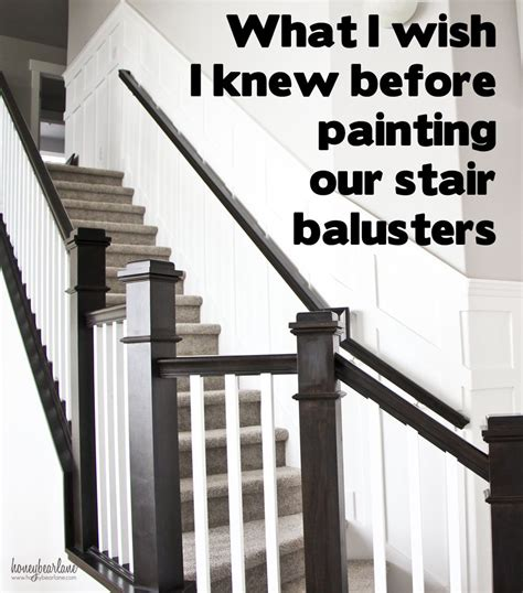 how to paint a banister black tips for painting stair balusters awesome diy and home