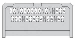 Toyota Corolla  2012 - 2016  - Fuse Box Diagram