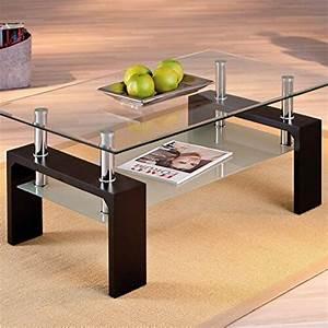 Couchtisch Glas Holz : li il links 50100045 couchtisch aus glas holz schwarz ~ Eleganceandgraceweddings.com Haus und Dekorationen