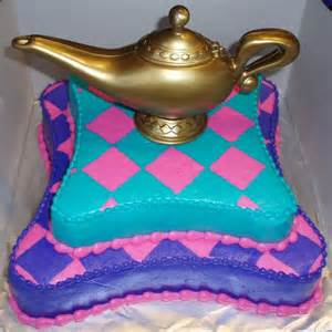 Image result for images of aladdin lamp pillow cakes