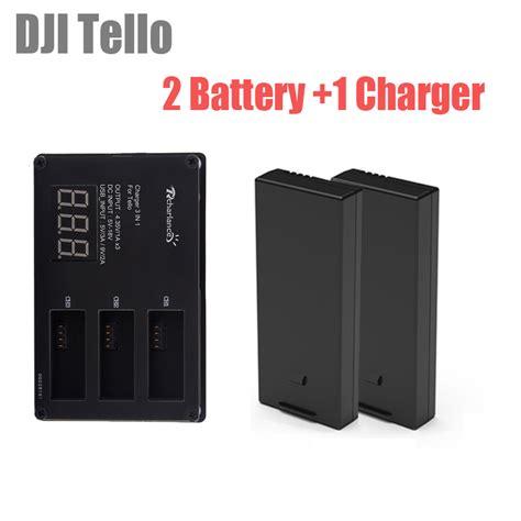 pcs dji tello battery tello lipo flight battery  fast charging batteries charger  hub