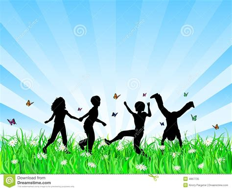 how to get to play in the background android children in grass stock vector image of
