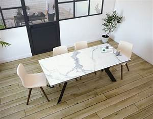 Esstisch Keramik Erfahrung : esstisch ontario keramik marmoroptik matt edelstahl lackiert 190 270x100x76 cm dt044ma ~ Eleganceandgraceweddings.com Haus und Dekorationen