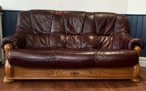 furniture gorgeous burgundy leather sofa  living room