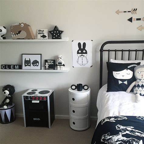 chambre en noir et blanc chambre enfant et blanche
