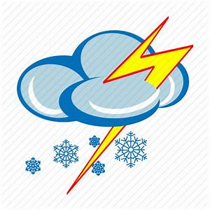 Forecast, lightning, snow, snow storm, snowing, weather ...